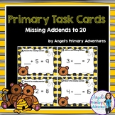 Addition Task Cards:  Missing Addends to 20