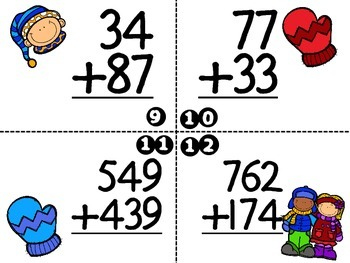 Addition Task Cards-Multiple Digit with Regrouping