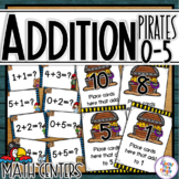 Addition Task Cards - for adding numbers 0-5 - Pirate Themed