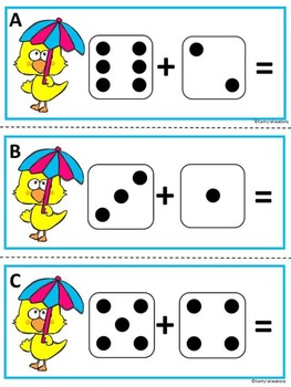 Addition Task Cards -Spring