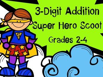 Addition Task Cards (Super Hero Theme)