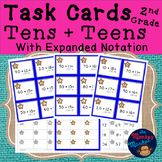 Addition Task Cards: Tens + Teens with Expanded Form