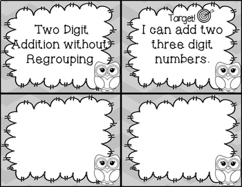 Addition Task Cards - Triple Digit WITHOUT Regrouping