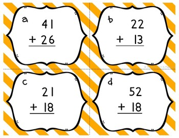 Addition Task Cards : Two Digit Addition