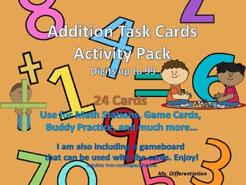 Addition Task Cards: Up to 99