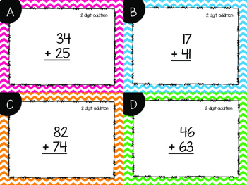 2 Digit Addition With and Without Regrouping Task Cards {Paper + Digital}