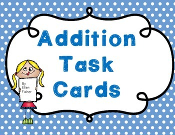 Addition Task Cards addens 1-5
