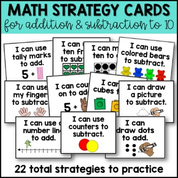 Addition Task Cards for Addition Strategies