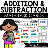 Addition and Subtraction Task Cards | Math Centers | Kinde