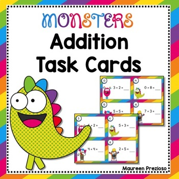 Addition Task Cards for Kindergarten