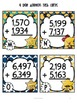 Addition Task Cards for Scoot Game and Centers {2, 3 and 4 digit addition}