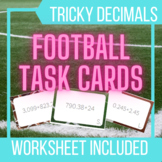 Addition Task Cards with a Football Theme!