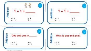 Addition Task Cards/Word Problems/Differentiation