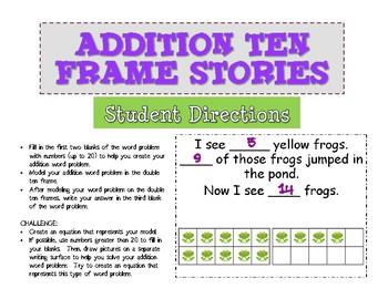 Addition Ten Frame Stories
