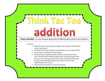 Addition Think-Tac-Toe