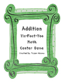 Addition Tic-Fact-Toe