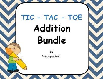 Addition Tic-Tac-Toe Bundle