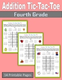 Addition Tic-Tac-Toe (Fourth Grade)