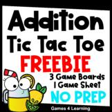 Tic Tac Toe Addition Games Free
