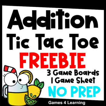 Tic Tac Toe Addition Games Free