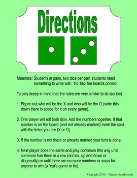 Addition Tic-Tac-Toe Game (Adding two numbers)