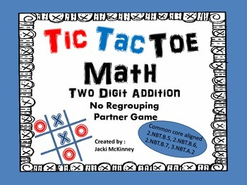 Addition Tic Tac Toe Game No Regrouping