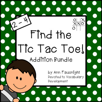 Addition Tic Tac Toe Games Bundle