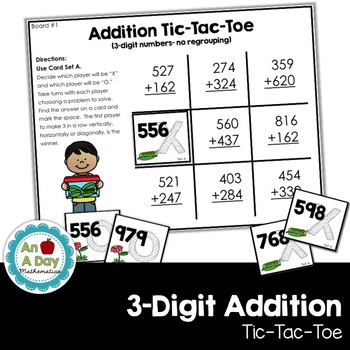 Addition Tic-Tac-Toe Math Center