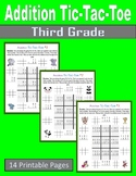 Addition Tic-Tac-Toe (Third Grade)