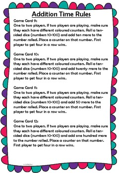 Addition Time Game