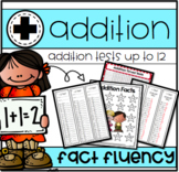 Addition Timed Tests 0-12 Print N' Go!