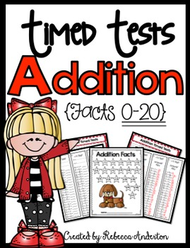 Addition Timed Tests 0-20 Print N' Go!