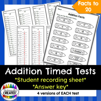 Addition Timed Tests {+0 to +10 and Doubles}