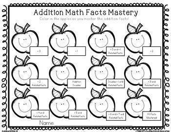 Addition Timed Tests & Flash Cards Bundle {Adding Within 20}