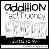 Addition to 20 / Addition Practice / Addition Fact Fluency