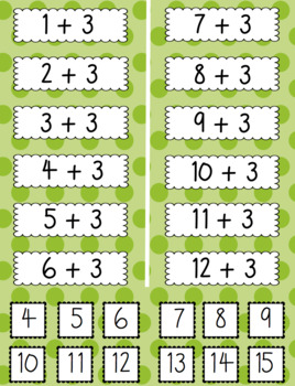Addition Times Tables Matching Game