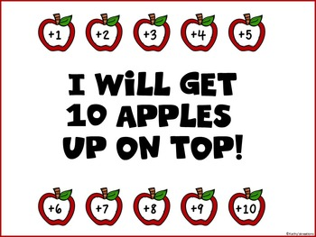 Addition To 10 - Apples Facts Up On Top