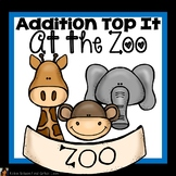 Addition Game First Grade Top It At the Zoo