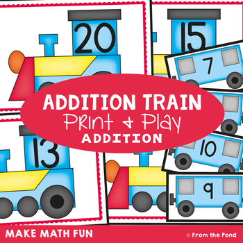 Addition Train Printable Game