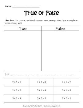 Addition: True or False