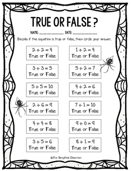Addition True or False Math Problems {FREEBIE!}