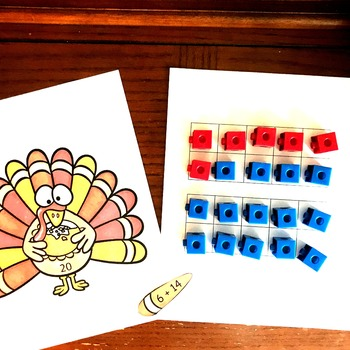 Thanksgiving Addition Expression Sort for Sums 11 through 20