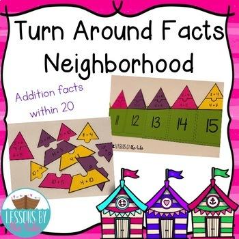 Addition Turn Around Facts Centers