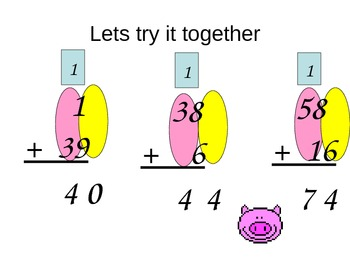 Addition:  Two Digit Addends With Regrouping for Visual Learners