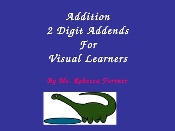 Addition:  Two Digit Addends for Visual Learners
