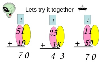 Addition: Two Digit Addends with Regrouping Instruction and Practice