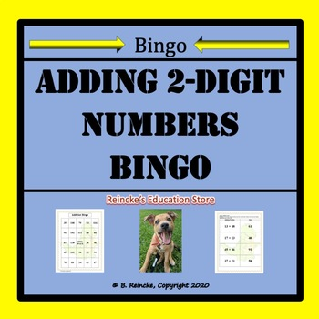 Addition with Two-Digit Numbers Bingo (30 pre-made cards!!!)