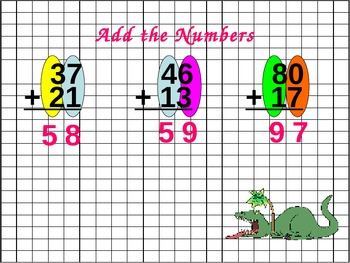 Addition: Two Digit Instruction and Practice for Visual Learners