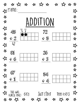 Addition - Two digit with one digit
