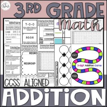 3rd Grade Addition Unit ~Common Core~